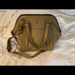 Brown/Khaki Leather OrYany Satchel